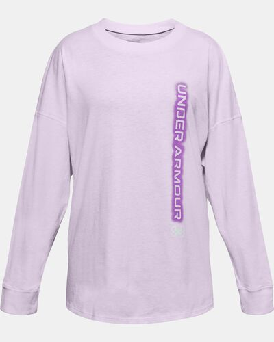Girls' UA Wordmark Branded Long Sleeve