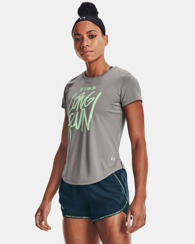 Women's UA Long Run Graphic Short Sleeve