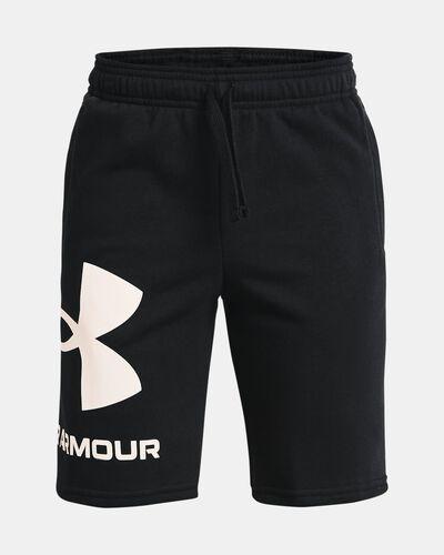 Boys' UA Rival Fleece Big Logo Shorts