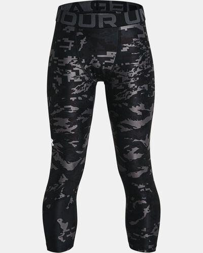 Boys' HeatGear® Armour Printed ¾ Leggings