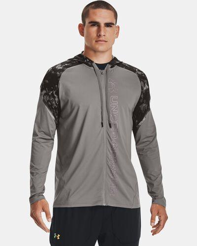Men's UA RUSH™ Printed Full-Zip Hoodie