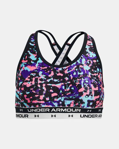 Girls' UA Crossback Printed Sports Bra