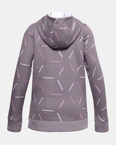 Girls' UA Rival Fleece Printed Hoodie